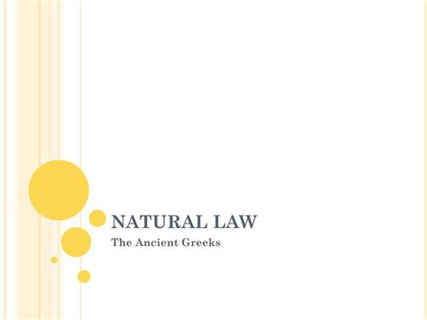PPT - NATURAL LAW PowerPoint Presentation, free download