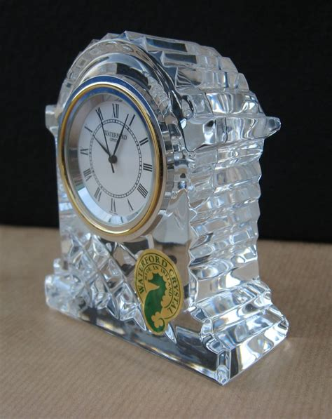 Waterford Crystal Small Carriage Clock, New, Made in Ireland