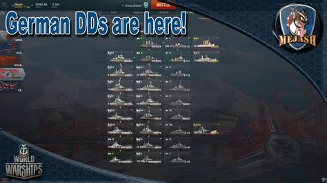 World of Warships: German Destroyers are here! Play styles