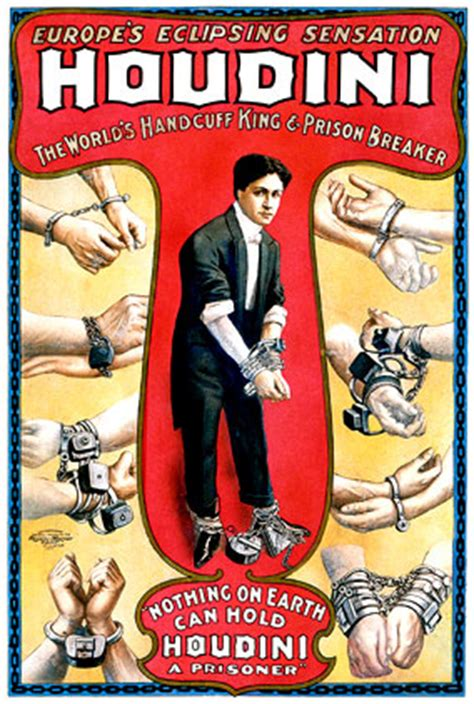 Harry Houdini Poster Gallery   MagicTricks