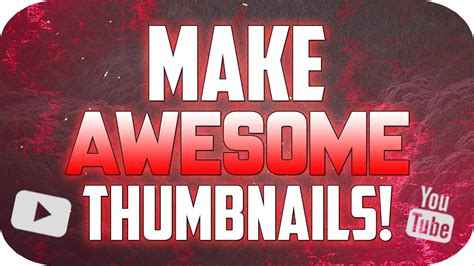 How To Make a Thumbnail for YouTube with Photoshop CS6/CC