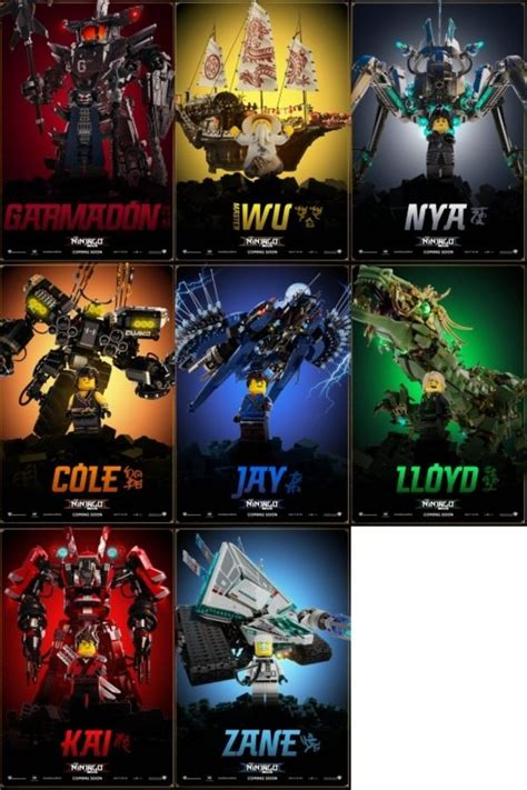 Eight New Character Movie Posters For 'The LEGO NINJAGO