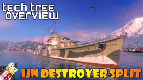 World of Warships - Tech Tree Overview - Japanese