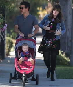 Zooey Deschanel is pretty in a floral-print dress as she