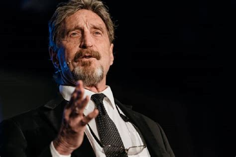 Official John McAfee Reacts to Trump's Negative Crypto