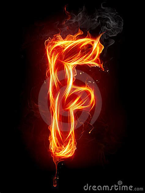 Fire Letter F Royalty Free Stock Images - Image: 7197619