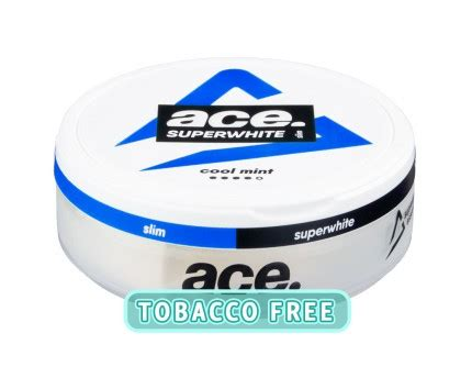 ACE Superwhite Cool Mint Nicotine Pouches   Buy Swedish