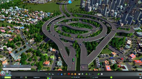 Image result for cities skylines highway junction   City