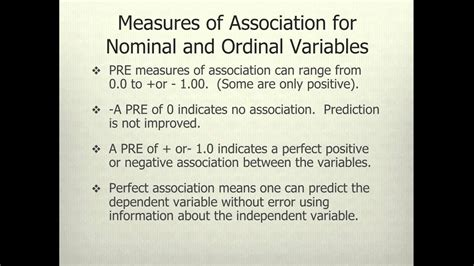 Tests of Significance and Measures of Association for