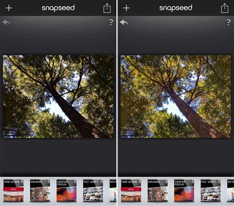 Snapseed for iOS Updated With New HDR Scape Filter