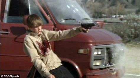 Justin Bieber shot dead on TV show CSI and meets a bloody