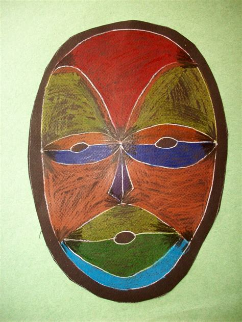 African Masks - Dissection of Self - Year 9 Art