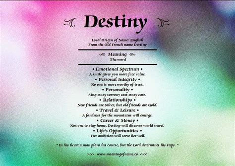 Meaning of name Destiny   Names with meaning, Destiny