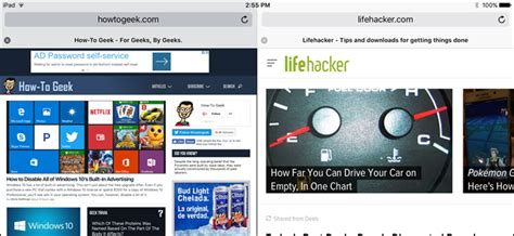 How to Use Safari's New Split View on the iPad in iOS 10