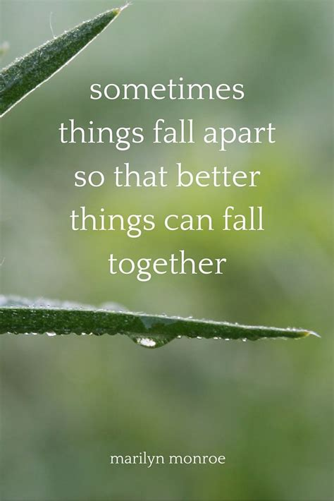 When Things Fall Apart | For a reason, We and Nice