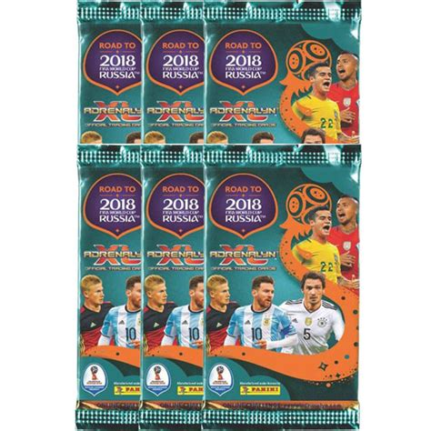 6st Paket, Panini Adrenalyn XL Road to World Cup Russia 2018