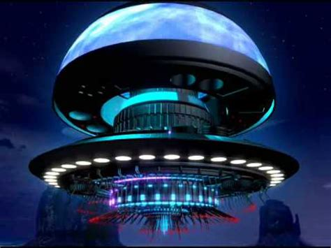UFO - Animation of alien mothership made on 3D Maya by