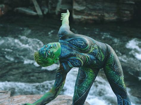 Bodypainting That Speaks About Human And Nature